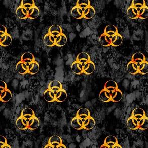 Grungy Biohazard Yellow on Black