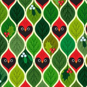 Hide'n'seek cardinals - Christmas - large scale