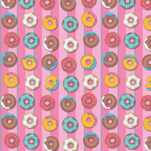 Donut Stripe - Pink and Multi