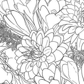 Autumn Bouquet - Black