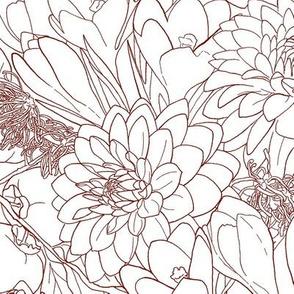 Autumn Bouquet -Maroon