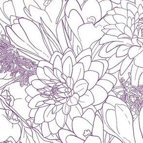 Autumn Bouquet - Plum