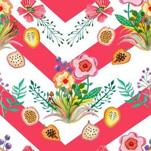 Wildflowers & Fruit Scarlet