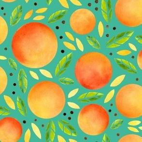 oranges turquoise