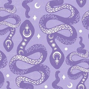 Amethyst Purple Moon Snakes by Angel Gerardo