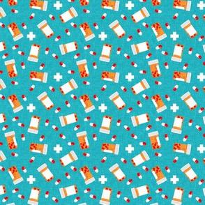 (small scale) Medicine bottles - Capsule Bottle - teal - LAD19BS