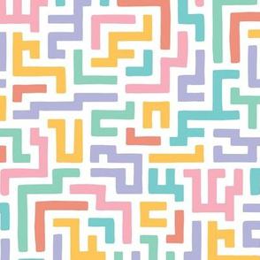 Rainbow Squiggle Maze