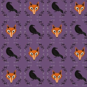 Crow and Fox - small scale purple