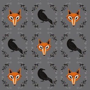 Crow and Fox - small scale dark gray