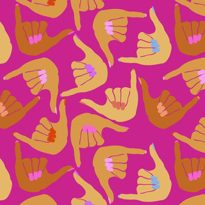 Shaka Nails Pink