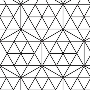 Black and White Monochrome Octagons, Stars, and Triangles