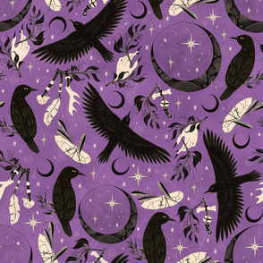 Raven Tarot Purple