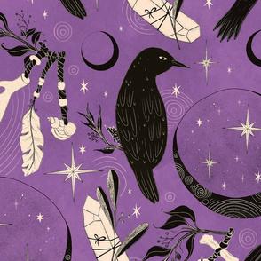 Raven Tarot Purple Jumbo scale