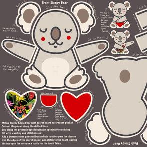 No Worries Sweet Dreams Sleepy Koala Bear novelty cushion