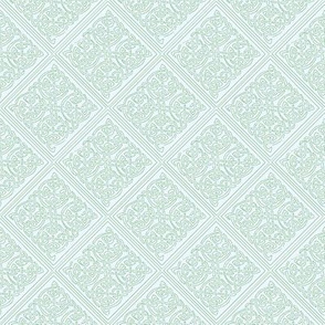 celtic knot tile 1 blue green