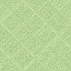 Celtic knot tile 1 green on green