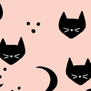 Cats and Moons (blush) - L