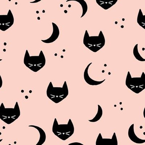 Cats and Moons (blush) - M