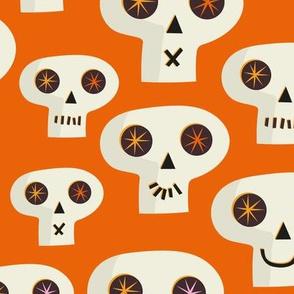 Skull Large scale Orange