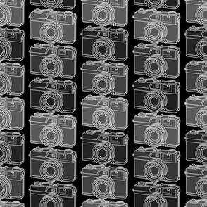 Camera Collection on dark background