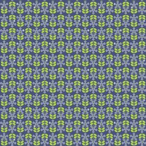 Lacrosse Flowers Blue Medium
