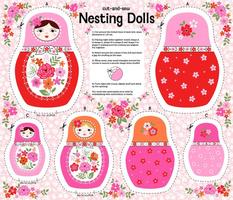 Nesting dolls cut and sew