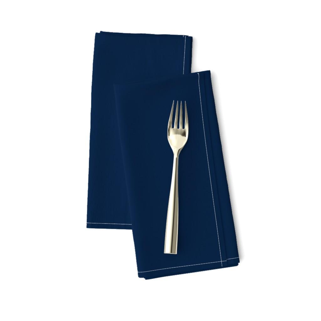 Amarela Dinner Napkins featuring dark navy blue solid by georgeandgracie