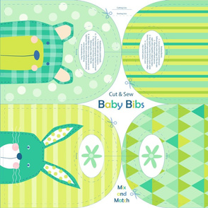 Bunny and bear baby bibs - cut and sew - bibs-01