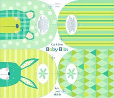 Bunny and bear baby bibs - cut and sew - bibs-01