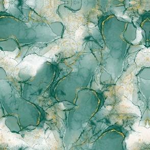 Deep Mustard and white Polka Dots