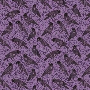 small scale - ravens - lilac