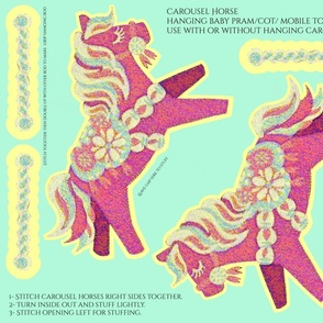 Carousel horse - cut and sew