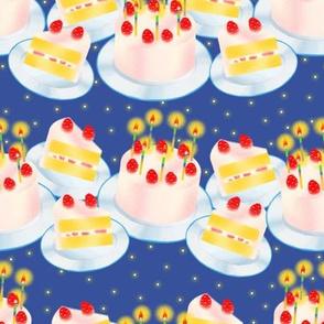 Birthday Cake-Blue