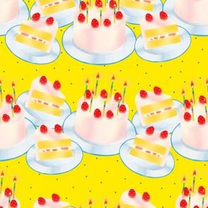 Birthday Cake-Yellow
