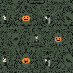 Gothic Skulls (Green)