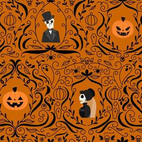 Gothic Skulls (Orange)