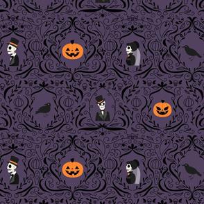 Gothic Skulls (Purple)