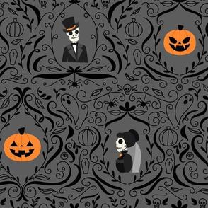 Gothic Skulls (Grey)