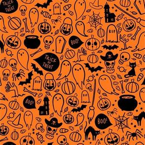 Halloween Doodles (Orange)