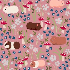 Guinea Pig Garden in Pink