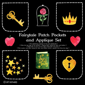 Fairytale patch pockets and applique cut-n-sew set