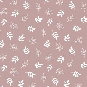 Sweet boho petals and autumn leaves garden Scandinavian minimal neutral nursery mauve purple SMALL