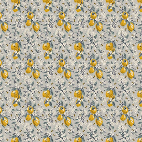 Bees & Lemons - Mini - Grey