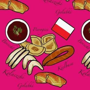 Polish Food Hot Pink Small