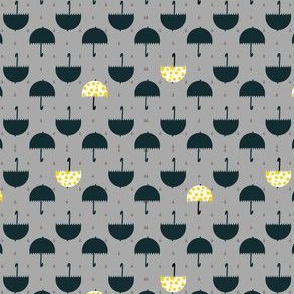 Umbrella Rain Drop Seamless Pattern