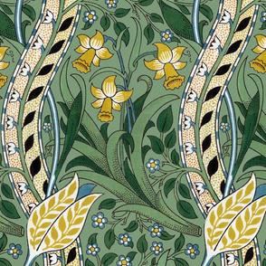 William Morris ~ Daffodil ~ Original Intense