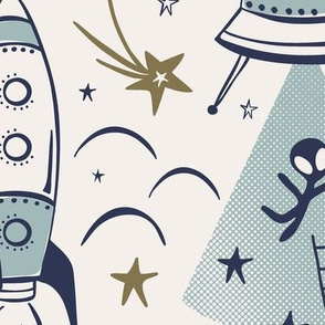 Out Of This World Toile - Milky Way Jumbo Scale
