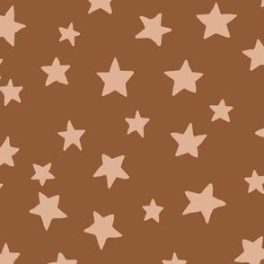 Spooky Stars (rust) - L