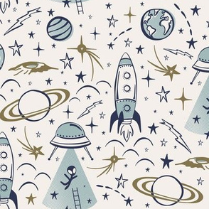 Out Of This World Toile - Milky Way Regular Scale