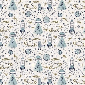 Out Of This World Toile - Milky Way Small Scale